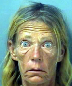 Wow, can't tell from this bad mug shot of this meth head is a man or ...