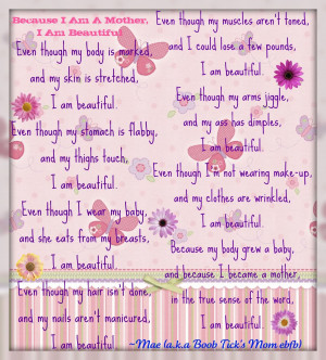 Because I Am A Mother, I Am Beautiful