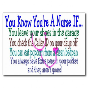funny nurse sayings postcard