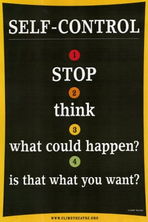 Self Control Steps Posters