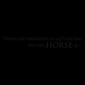 Horse is Girl's Best Friend Wall Quotes™ Decal
