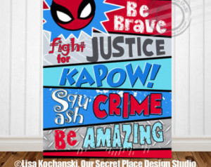 Popular items for super hero quote