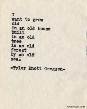 Typewriter Series, Tyler Knott Gregson
