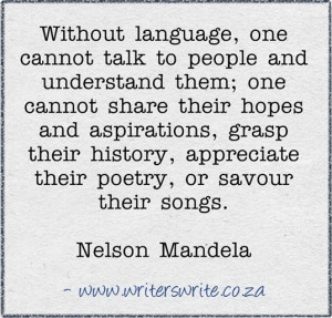 quote from Nelson Mandela about the importance of language