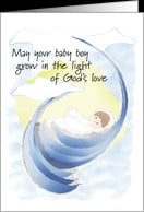 greeting cards on the day of your baptism baptism card child