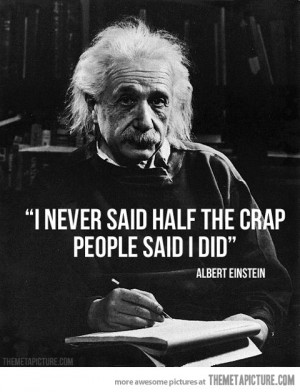 Funny photos funny Albert Einstein famous quote