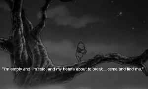 heartbroken, love, pooh