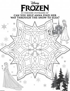 Disneys Frozen Help Anna Find Her Way Through the Snow to Elsa ...