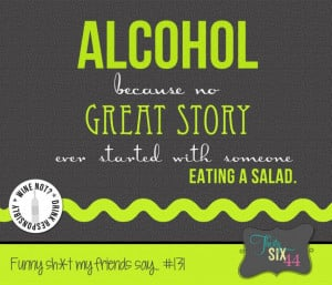 Funny Quotes: Just Say NO To Salads Quote In Green Font And Grey Theme