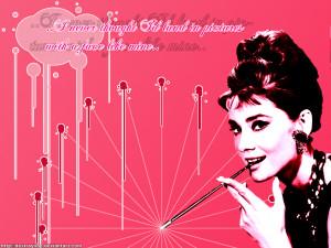 Audrey Hepburn Pink Audrey