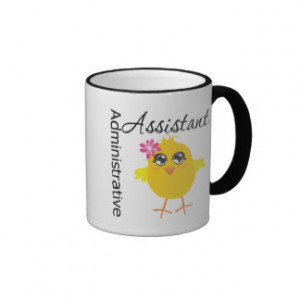 Cute Career Chick Administrative Assistant Ringer Coffee Mug