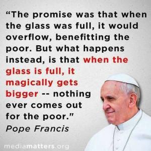 Quote from Pope Francis' Apostolic Exhortation, Evangelii Gaudium (the ...