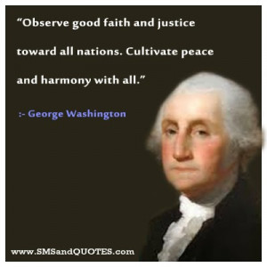 Wise and Famouse Quotes of George Washington on Leadership