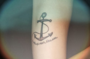 Sea Quote Tattoos Anchor tattoo meanings