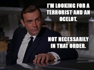 Archer quotes over James Bond photos