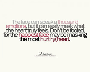 The face can speak a thousand emotions, but it can easily mask what ...