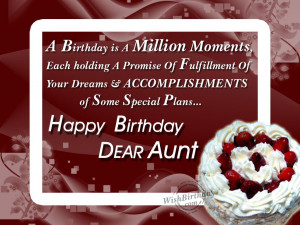 Wishing You Many Happy Returns Of The Day My Dear Aunt