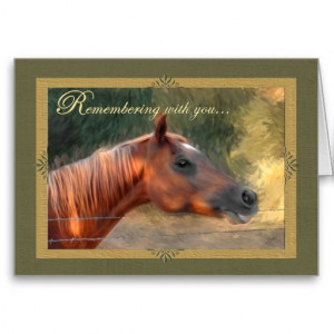 Pet Sympathy Loss of a Horse Cards
