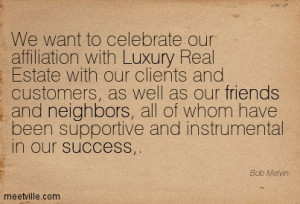 We want to celebrate our affiliation with luxury.