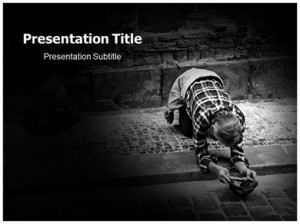 Poverty Quotes Powerpoint Template #07249