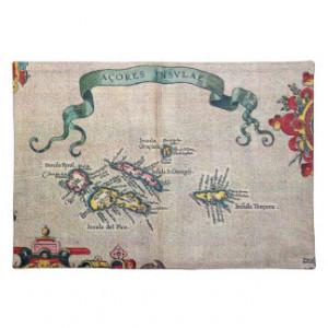 Azores Old Map Vintage Sailing Exploration Place Mat