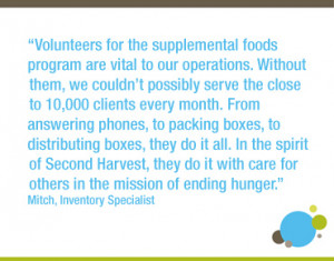 This week is National Volunteer Week, and all of us at Second Harvest ...