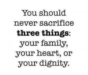 Never Sacrifice...