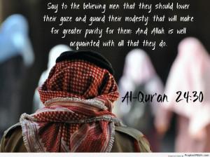 ... Nur - Quran 24-30 - Islamic Quotes About Modesty and Lowering the Gaze