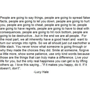 Quote from Lucy Hale.