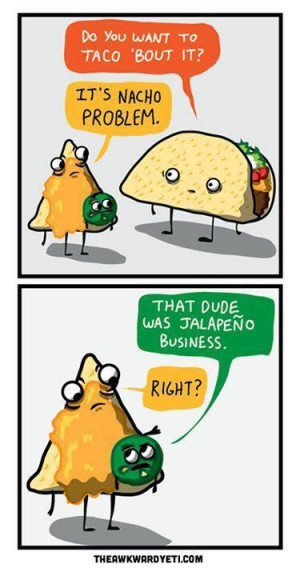 Funny taco cartoon