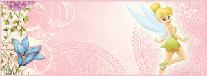 Tinkerbell Pink Facebook Cover