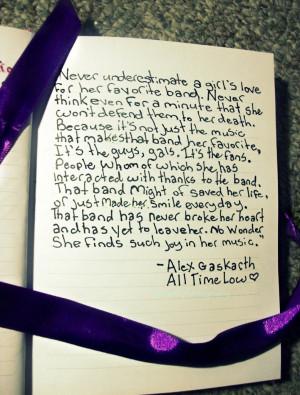 Alex Gaskarth quote by 111lostsoul111