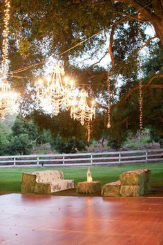 Lovely setting for a wedding or party...the chandeliers are so awesome ...