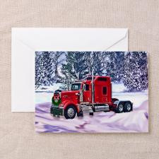 bright truck postcard cafe press Greeting Card for