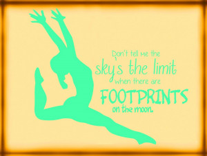 Details about Girl's Gymnastics Wall Decal - Sky is the Limit 18