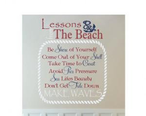 Beach Decal - Boat Anchor Beach Cottage Decor-Beach Theme Vinyl Wall ...