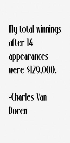 Charles Van Doren Quotes amp Sayings
