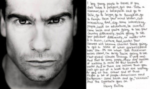 Henry Rollins encourages young people to travel the world