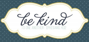 lesson on kindness...