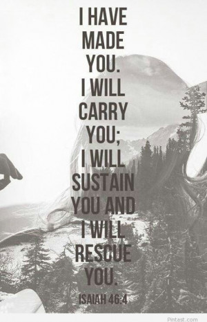 Bible Verse I Will Carry You