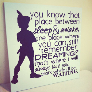 Peter Pan Neverland Quote 20X20 Canvas by AbleEssenceStudio