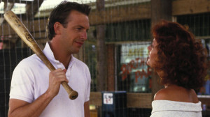 "Kevin Costner and Susan Sarandon as ""Crash"" Davis and Annie Savoy ..."