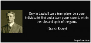 Famous Baseball Team Quotes
