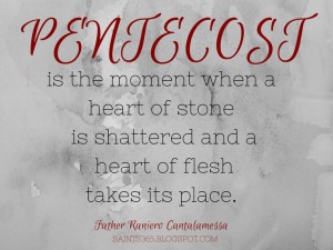 Pentecost quote from Fr. Cantalamessa