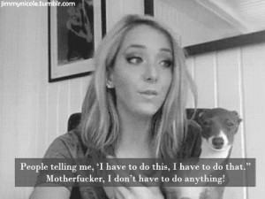 Jenna Marbles doesn't have to do anything