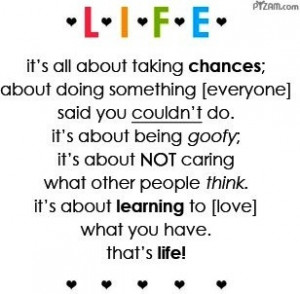 Various Life quotes