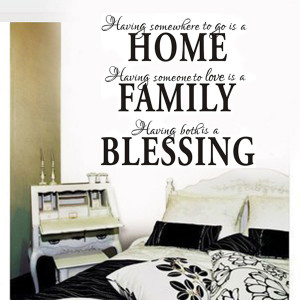 Removable Home Family Blessing Wall Quote Sticker Decals Mural Home ...