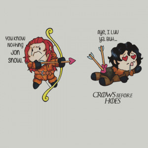 ... Before Hoes : Cute Chibi Ygritte and Jon Cartoon Fan Art by charshee