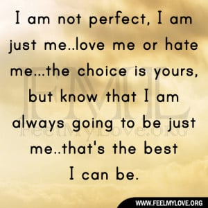 I AM Not Perfect Quotes