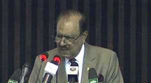 ISLAMABAD: President Mamnoon Hussain, while addressing the joint ...